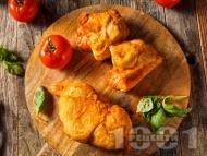 Панцероти - пържени пици калцоне с готово тесто и плънка от домати и моцарела